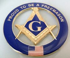 New Masonic Master Mason Proud To Be A Freemason Cut out Car  Emblem
