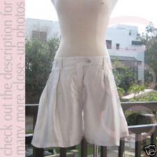 Hussein Chalayan Silver White Ladies Silk Bermuda Shorts I38 S to M