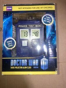 DOCTOR WHO BBC TARDIS PROJECTION ALARM CLOCK