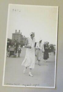 Unknown Lady. Lowestoft 1933. Claremont Photographic Stores. Dress.Handbag,Hat.