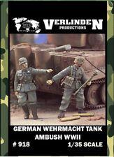 Verlinden 1:35 WWII German Wehrmacht Tank Ambush 2 Resin Figures Model Kit #918