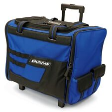 Vaughan 18-Inch Wide Mouth Rolling Tool Bag with Telescoping Handle Wheels