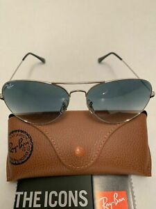 Ray-Ban Aviator Sunglasses RB3026 003/32 62-14mm Silver Frame Gray Gradient Lens