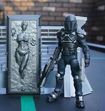 "Star Wars Custom 6"" Black Series Slave Leia in Carbonite + Mandalorian Fett"