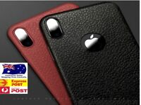 Real Slim Leather Case Slim Back Cover For Apple iPhone X XS Max XR 8 6 7 11 PRO