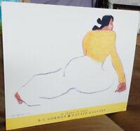 "RC GORMAN Art Poster MARIA YELLOWHAIR 25 Years in Taos Gallery ""93 VTG 25""x30"""
