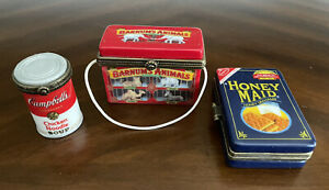 Adorable Three Trinket Boxes With Item Inside