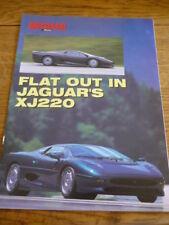 JAGUAR XJ 220 ROAD TEST CAR BROCHURE 1992