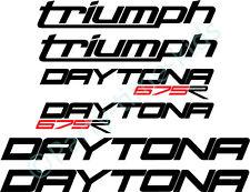 TRIUMPH DAYTONA 675 R DECALS SET STICKERS Track / Race Bike Trackday