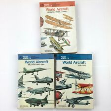 Rand McNally WORLD AIRCRAFT Books LOT of 3 - Military WWI 1918-1960 Illustrated