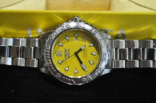 Invicta Automatic Mens Watch Model No. 3036 Professional Diver Yellow Face Nice!