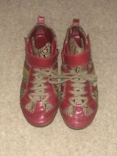 CHRISTIAN DIOR Red Pumps Size 5 Cushioned Sole LEATHER Ankle Trainers RRP £350