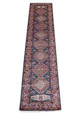 11 foot Blue Rug Super Kazak entryway carpet runner 34 x 136 in Luxurious