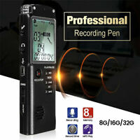 32G Voice Recorder Dictaphone Activated Mini Spy Digital Sound Audio MP3 Player