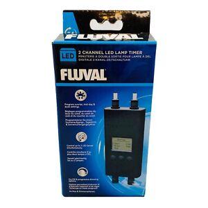 Hagen Fluval 2 Channel LED Lamp Timer for Aquarium Tanks Progressive Dimming NIB
