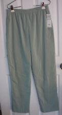 Graff Pants Womens 10 Green Polyester Blend Elastic Waist Pockets NWT