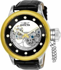 Invicta 24594 52mm Russian Diver Ghost Automatic Skeletonized Leather Mens Watch