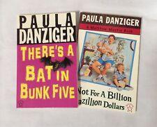 Paula Danzinger SIGNED Bat in Bunk Five Not for a Gazillion Dollars chapter book