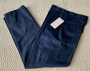 NWT Men's French Club Classic Solid Navy Blue Flap Cargo Pocket Pants SIZE 30-40