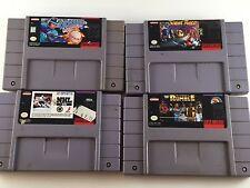 Lot of 4 Super Nintendo Games. Ken Griffey. NHL. WWF Royal Rumble. Stunt Race
