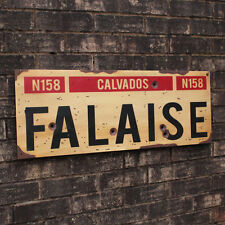 More details for ww2 falaise road sign - french repro army plaque - military - normandy - aged