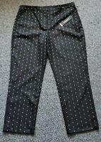 Donna Karan New York Polka Dot Black White Pants sz 14 LX New