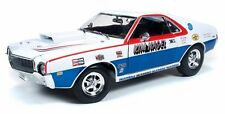 AMC AMX HURST S-S KIM NAGEL 1969 ERTL AW215 1/18 AUTO WORLD PIT CREW HAYS