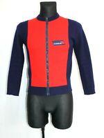 Vintage 70s TYROLIA Tyrol Austria Ski Jacket Cardigan Blue Red Retro Mens Size S