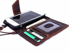 genuine vintage leather case for iphone 5c 5s SE book wallet cover magnetic ID
