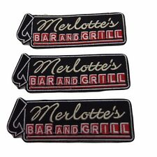 True Blood Merlotte's Bar and Grill Embroidered Patch Set of 3