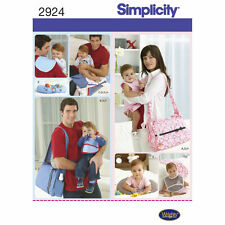 Simplicity SEWING PATTERN 2924 His & Hers Changing Bags,Burp Cloth,Bib,Pillow