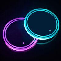 Fj- Universale LED Auto Coppa Sostegno RGB Luce Tovaglietta Sottobicchiere