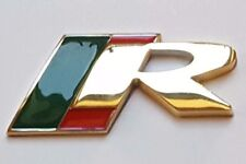 24ct GOLD PLATED JAGUAR R REAR SIDE BOOT BADGE 24K XJR XKR XFR S-TYPE F-TYPE