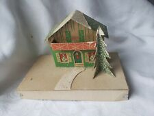 Vintage House Christmas Village Style Cardboard Collectible Christmas Tree #4