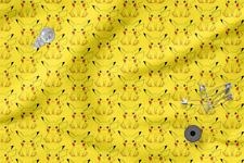 "Printed cotton 100% Eco-print ""Pokemon"" #7, Printed Fabric"