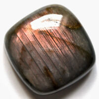 Cts. 46.05 Natural Purple Fire Labradorite Cabochon Cushion Cab Loose Gemstones