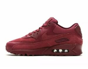 Nike Air Max 90 Premium Vintage Wine 700155 601 Mens Sz 12 100% Leather