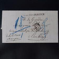 1858 LETTRE A.U.UEB.FRANKREICH FRANKFURT -> DUCHÉ DE NASSAU PORT 9/9 BIFFÉ 18/1