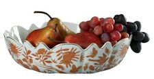 Mottahedeh Sacred Bird and Butterfly Scalloped Bowl- New