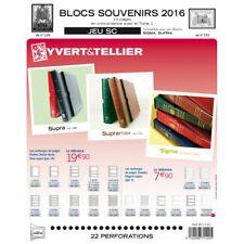 Jeux SC France blocs souvenirs 2016 avec pochettes de protection.