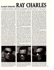 1970 PLAYBOY INTERVIEW: RAY CHARLES ~ ORIGINAL 10-PAGE ARTICLE