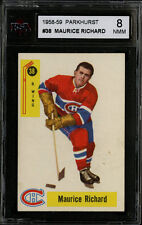 1958-59 PARKHURST~#38~MAURICE RICHARD~HOF~MONTREAL CANADIENS~KSA 8 NM-MT