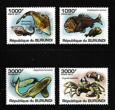 Poisson Crabe Shark MNH Jeu de 4 Timbres 2011 Burundi #892-5