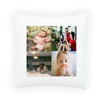 Personalised 4 Photos Pillowcase Cushion INSERT Pillow Case Cover Custom Gift