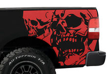 Vinyl Graphics Rear Decal DOUBLE SKULL Wrap Kit for Ford Truck F-150 2004-08 Red