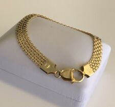 Stunning Classy smooth Bismarck 18KY Gold Ladies bracelet Italian Made