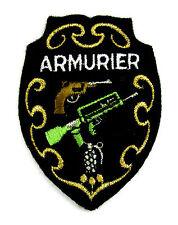 Ecusson brodé militaire ♦ (patch/crest embroidered) ♦ ARMURIER MILITAIRE