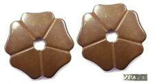 """Cloverleaf Spur Rowels1-3/8"""" Antique Brown Sold in Pairs by Metalab Free Ship"""