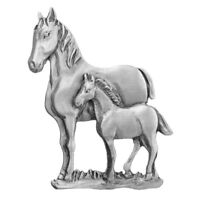 Chelsea Pewter Jewelry - Animal Lover Family Mare Horse and Foal Pin