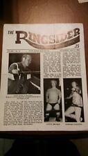 NICE 1969 NWA wrestling program vintage Ringsider Funk Brisco Negro Welch Graham